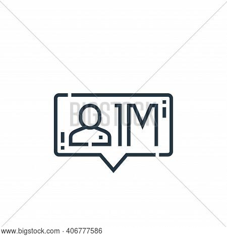 influencer icon isolated on white background from videoblogger collection. influencer icon thin line