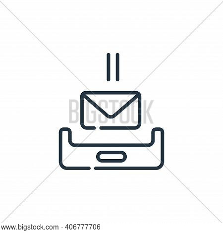 inbox icon isolated on white background from telecommuting collection. inbox icon thin line outline