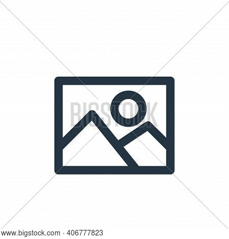 image icon isolated on white background from multimedia collection. image icon thin line outline lin