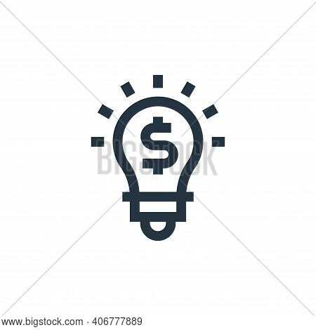 idea icon isolated on white background from marketing and growth collection. idea icon thin line out