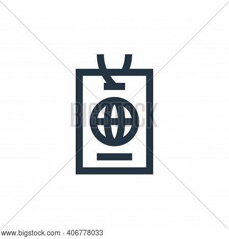 id card icon isolated on white background from news collection. id card icon thin line outline linea