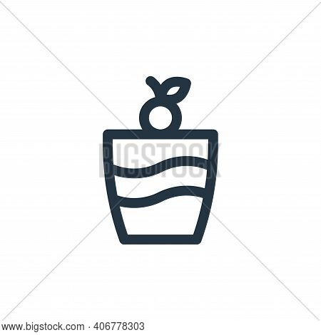 ice cream icon isolated on white background from gastronomy collection. ice cream icon thin line out