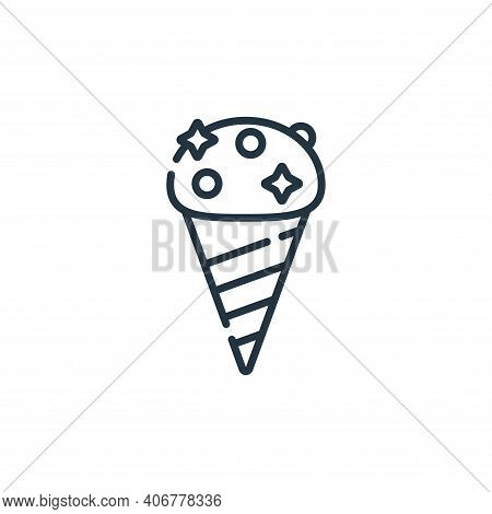 ice cream icon isolated on white background from circus collection. ice cream icon thin line outline