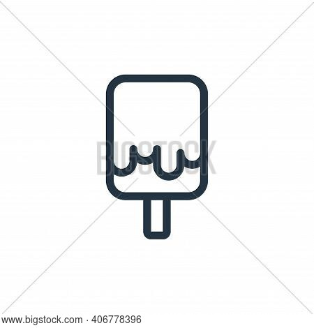 ice cream icon isolated on white background from holiday collection. ice cream icon thin line outlin