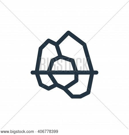 iceberg icon isolated on white background from climate change collection. iceberg icon thin line out