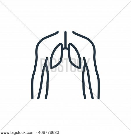 human lungs icon isolated on white background from stop virus collection. human lungs icon thin line