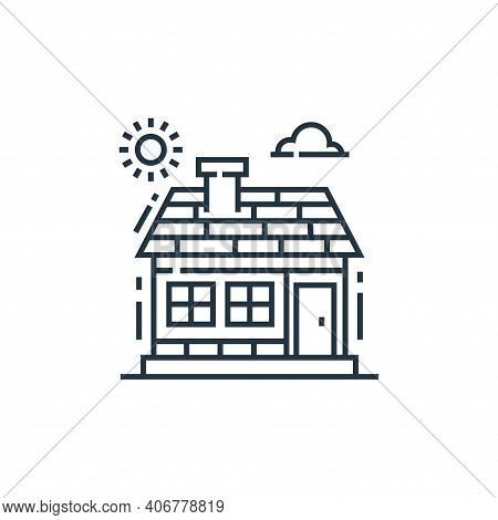 house icon isolated on white background from environment and eco collection. house icon thin line ou