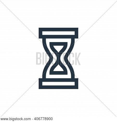 hourglass icon isolated on white background from news collection. hourglass icon thin line outline l