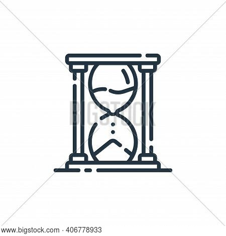 hourglass icon isolated on white background from startup collection. hourglass icon thin line outlin