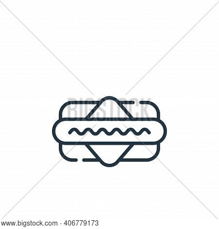 hot dog icon isolated on white background from baseball collection. hot dog icon thin line outline l