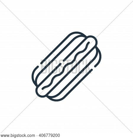 hot dog icon isolated on white background from circus collection. hot dog icon thin line outline lin