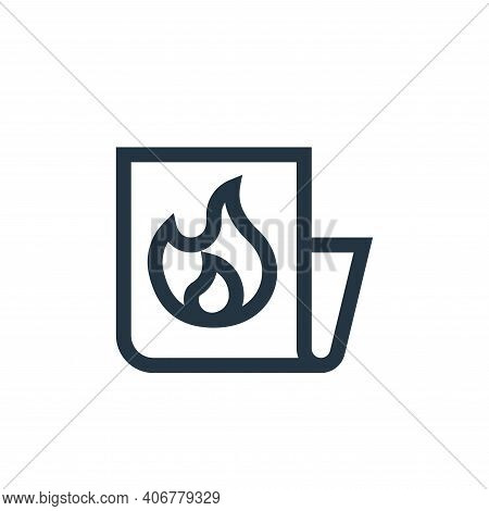 hot icon isolated on white background from news collection. hot icon thin line outline linear hot sy