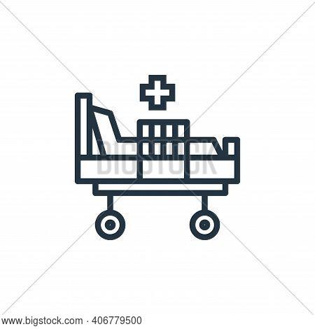 hospital bed icon isolated on white background from hospital collection. hospital bed icon thin line