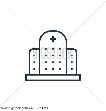 hospital icon isolated on white background from medical tools collection. hospital icon thin line ou