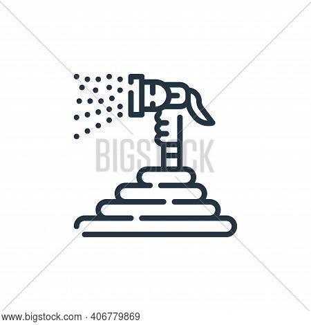 hose icon isolated on white background from cleaning collection. hose icon thin line outline linear