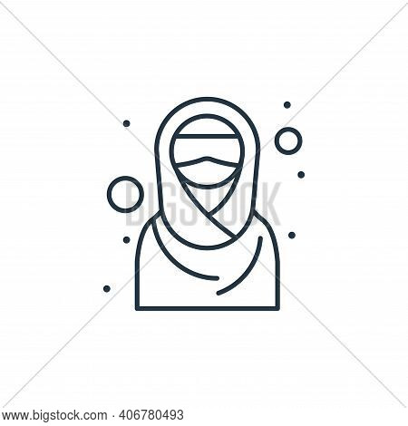 hijab icon isolated on white background from islam and ramadan collection. hijab icon thin line outl