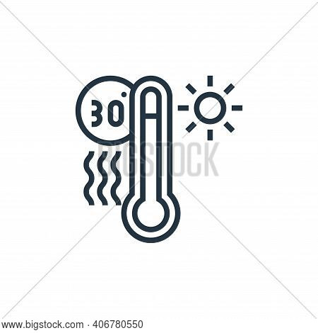 high temperature icon isolated on white background from climate change collection. high temperature