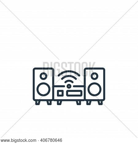 hifi icon isolated on white background from internet of things collection. hifi icon thin line outli