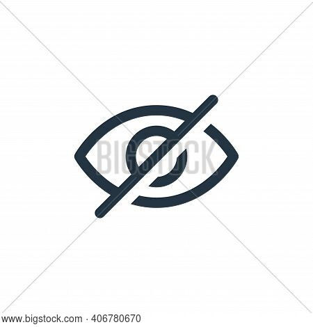 hide icon isolated on white background from user interface collection. hide icon thin line outline l