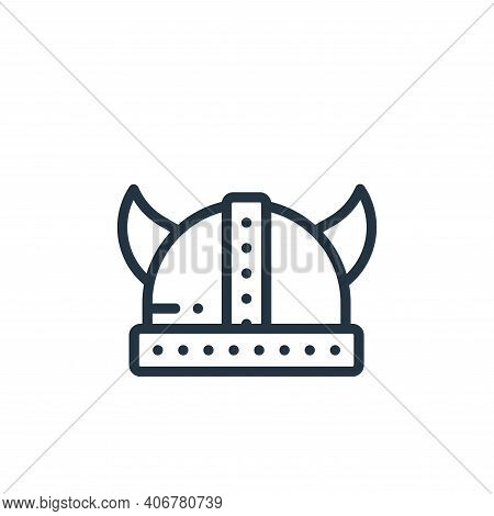 helmet icon isolated on white background from europe collection. helmet icon thin line outline linea