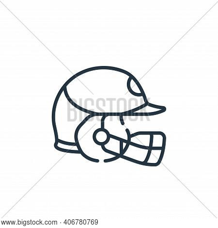 helmet icon isolated on white background from baseball collection. helmet icon thin line outline lin