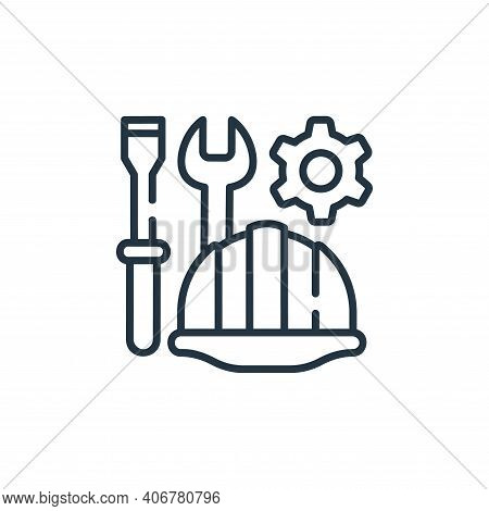 helmet icon isolated on white background from industrial process collection. helmet icon thin line o