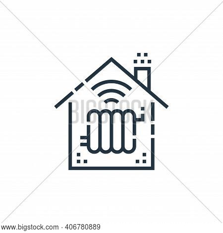 heating icon isolated on white background from smarthome collection. heating icon thin line outline