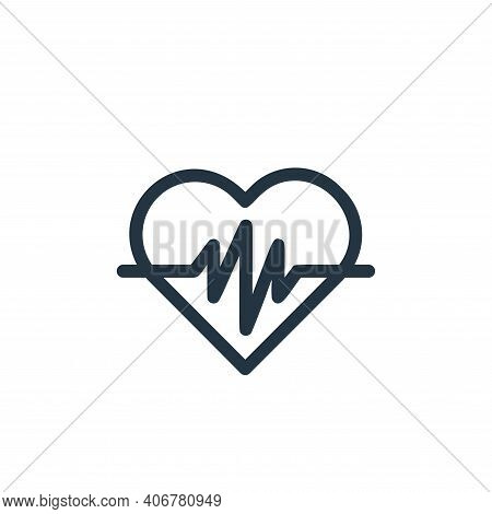 heartbeat icon isolated on white background from medical tools collection. heartbeat icon thin line