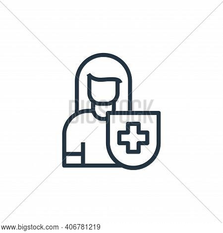 healthy icon isolated on white background from stay at home collection. healthy icon thin line outli