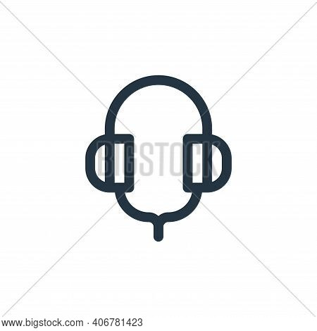 headphones icon isolated on white background from pilates collection. headphones icon thin line outl