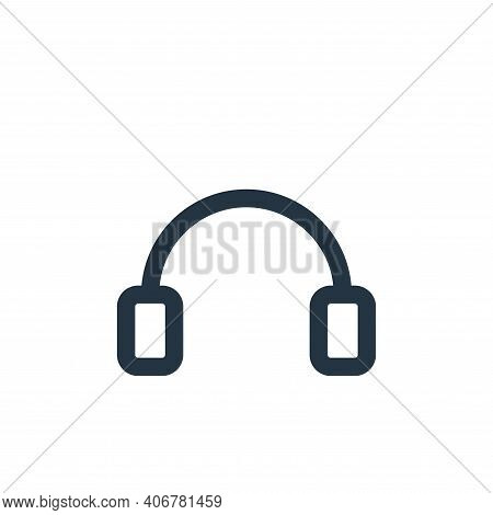 headphones icon isolated on white background from multimedia collection. headphones icon thin line o