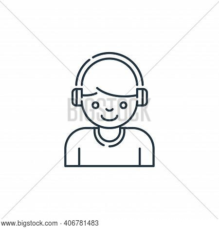 headphone icon isolated on white background from stay at home collection. headphone icon thin line o