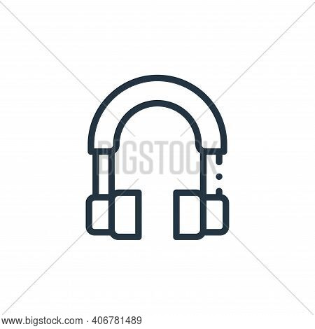 headphone icon isolated on white background from electronic devices collection. headphone icon thin