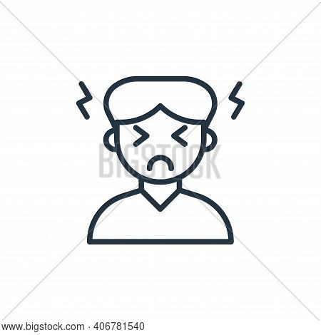 headache icon isolated on white background from coronavirus collection. headache icon thin line outl