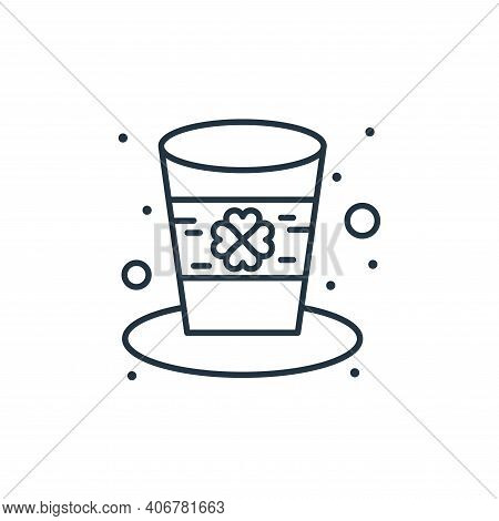 hat icon isolated on white background from saint patrick collection. hat icon thin line outline line
