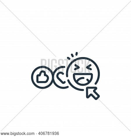 happy face icon isolated on white background from social media collection. happy face icon thin line