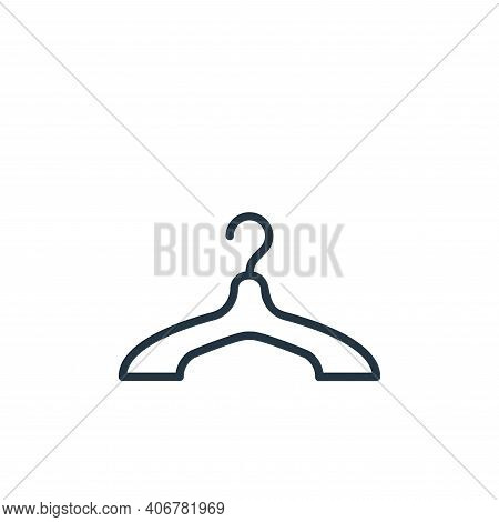 hanger icon isolated on white background from wardrobe collection. hanger icon thin line outline lin