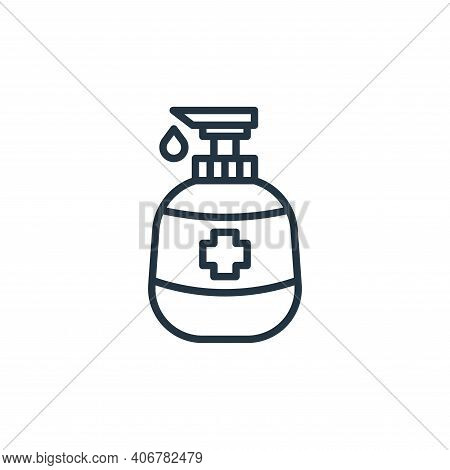 hand soap icon isolated on white background from coronavirus collection. hand soap icon thin line ou