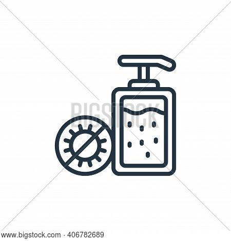 hand sanitizer icon isolated on white background from hygiene collection. hand sanitizer icon thin l