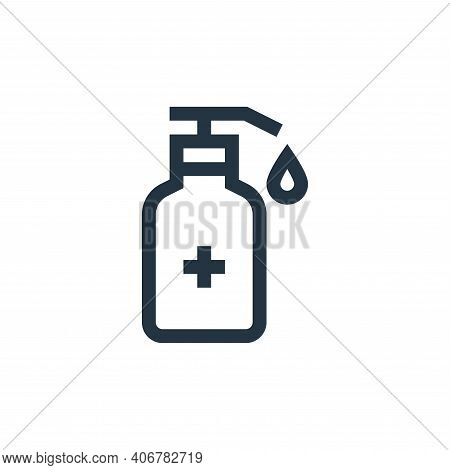 hand sanitizer icon isolated on white background from pharmacy collection. hand sanitizer icon thin