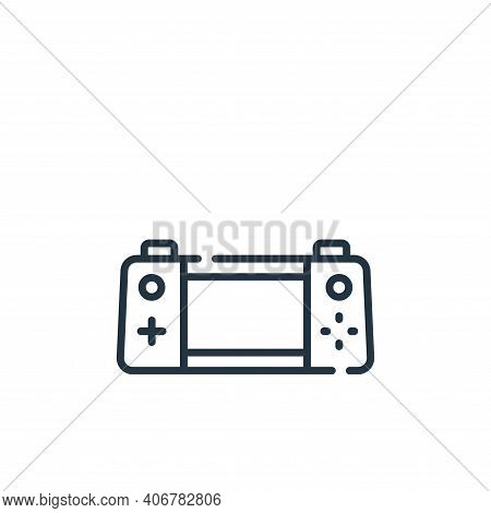 Handheld Console Vector Icon From Videogame Collection Isolated On White Background