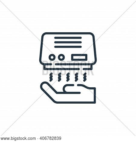 hand dryer icon isolated on white background from cleaning collection. hand dryer icon thin line out