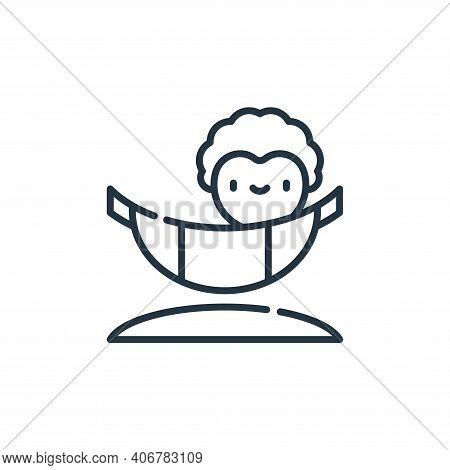 hammock icon isolated on white background from reggae collection. hammock icon thin line outline lin