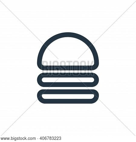 hamburger icon isolated on white background from food collection. hamburger icon thin line outline l