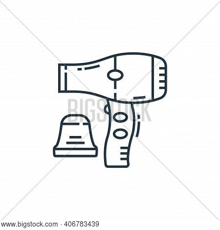 hair dryer icon isolated on white background from technology devices collection. hair dryer icon thi