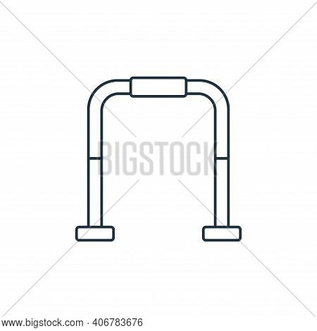 gym bars icon isolated on white background from fitness collection. gym bars icon thin line outline