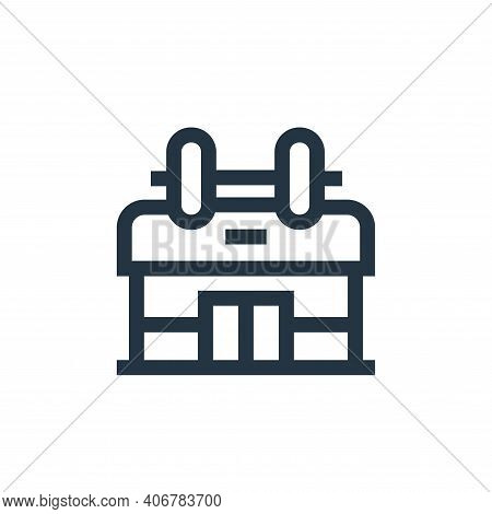 gym icon isolated on white background from hobbies collection. gym icon thin line outline linear gym