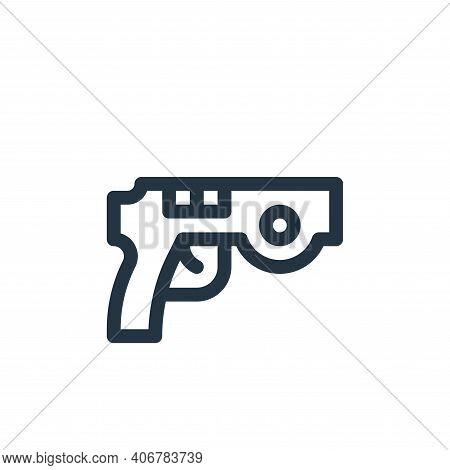 gun icon isolated on white background from virtual reality collection. gun icon thin line outline li