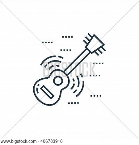 guitar icon isolated on white background from technology devices collection. guitar icon thin line o