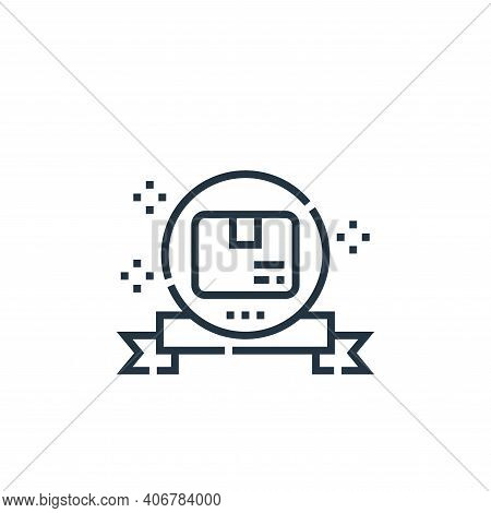 guarantee icon isolated on white background from delivery collection. guarantee icon thin line outli